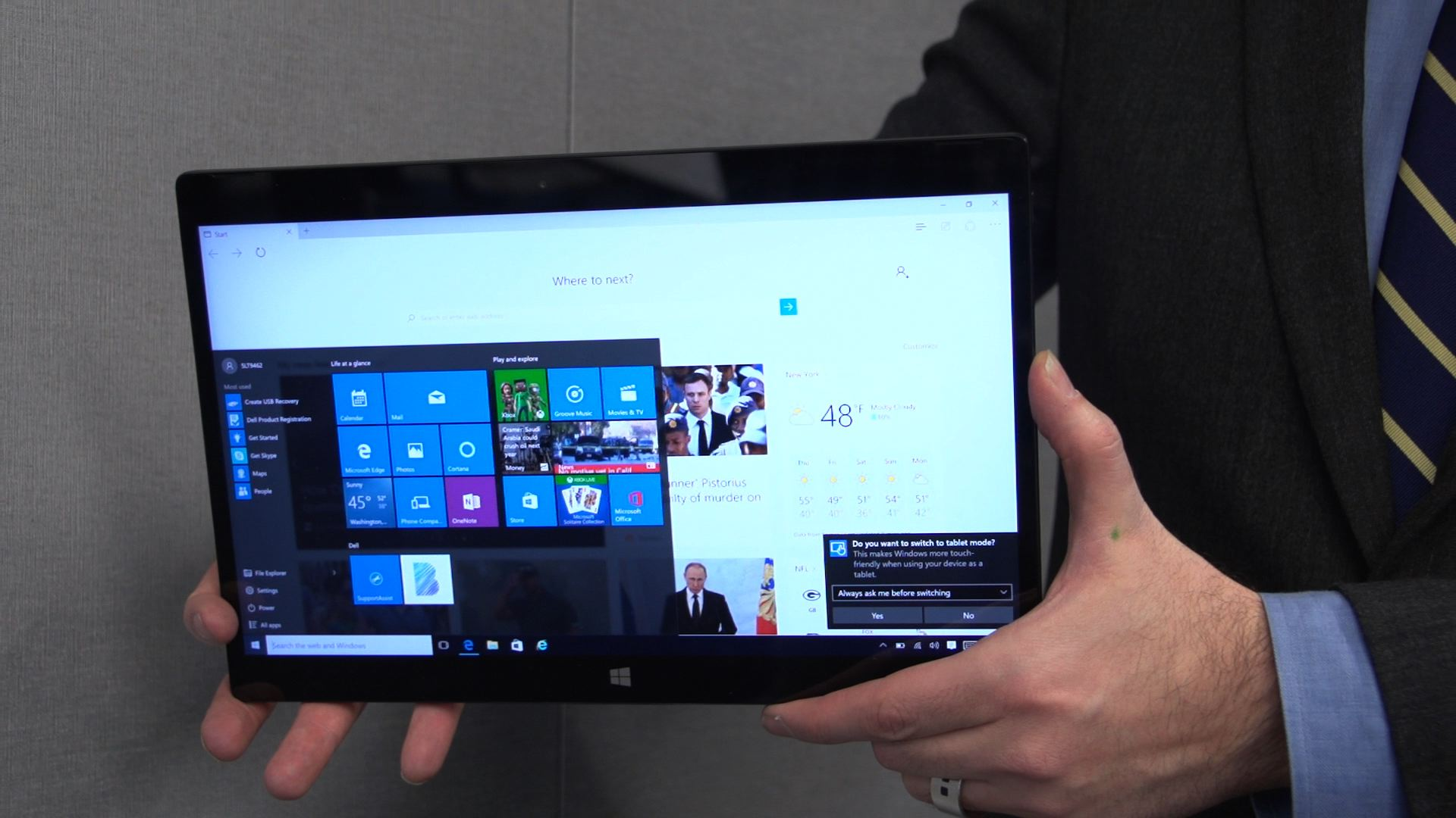 Video: A slim Dell tablet with hassle-free keyboards