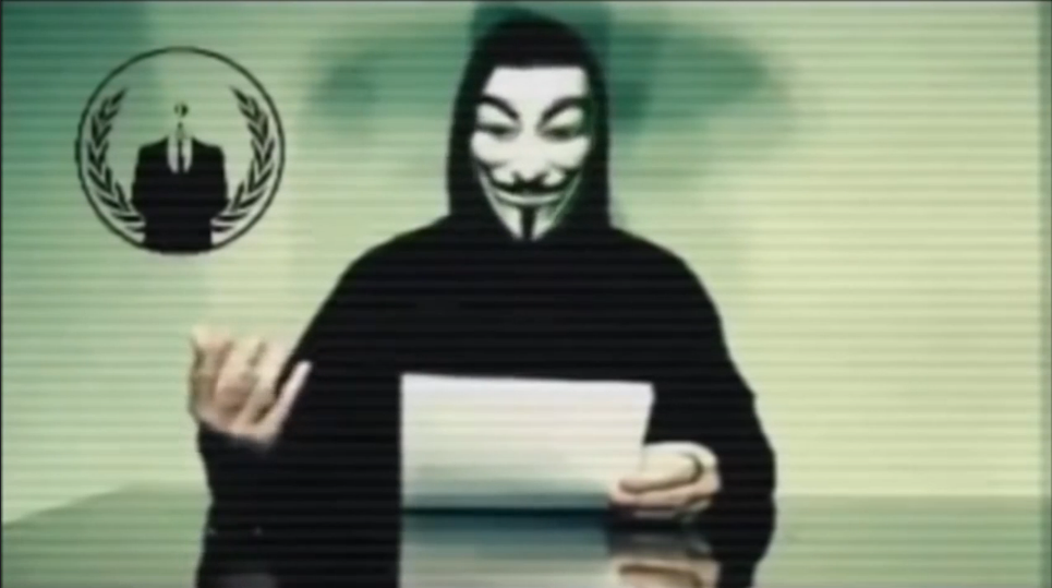 <p>Anonymous posted a video message Friday telling Donald Trump his plan to keep Muslims from entering the country is helping ISIS recruitment.</p>
