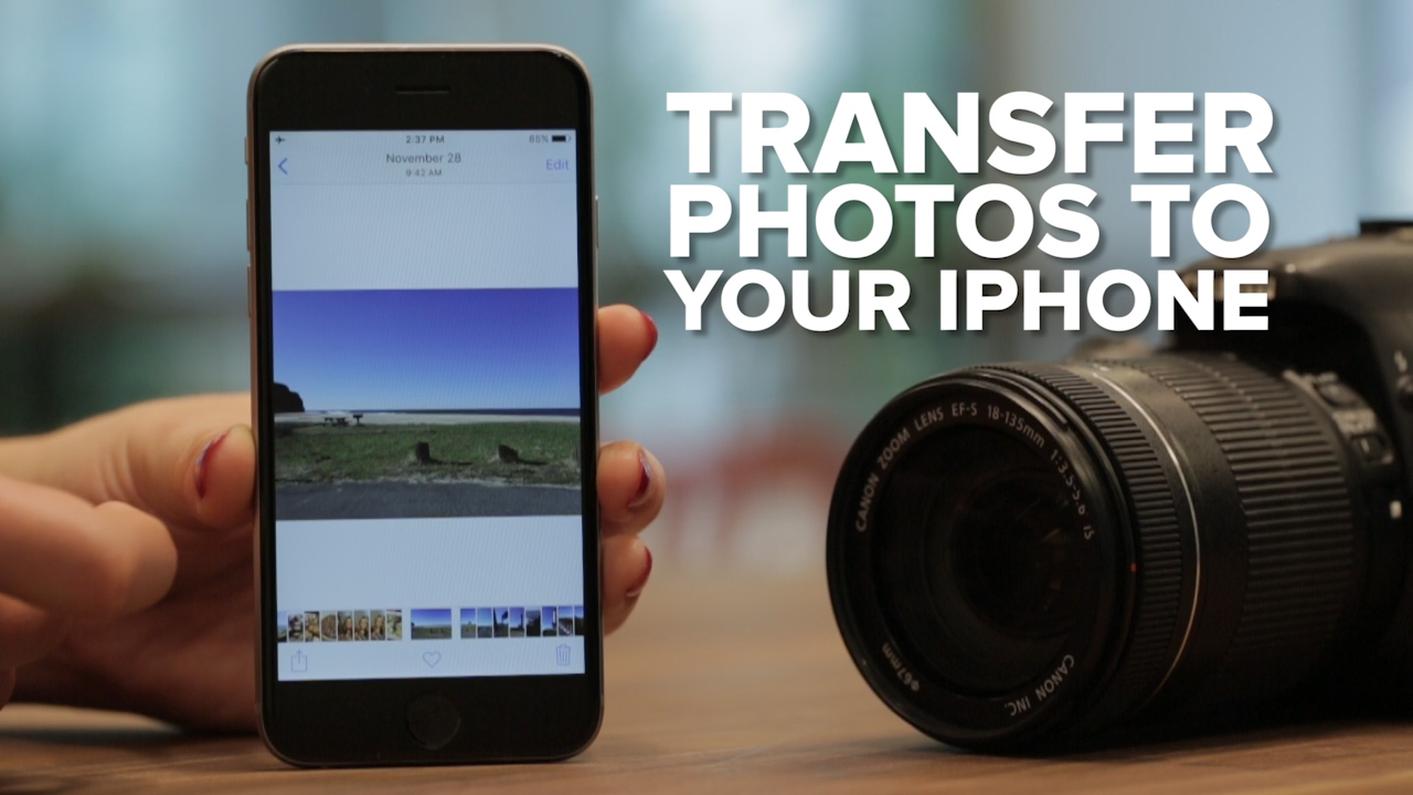 Video: Transfer photos to your iPhone from a camera