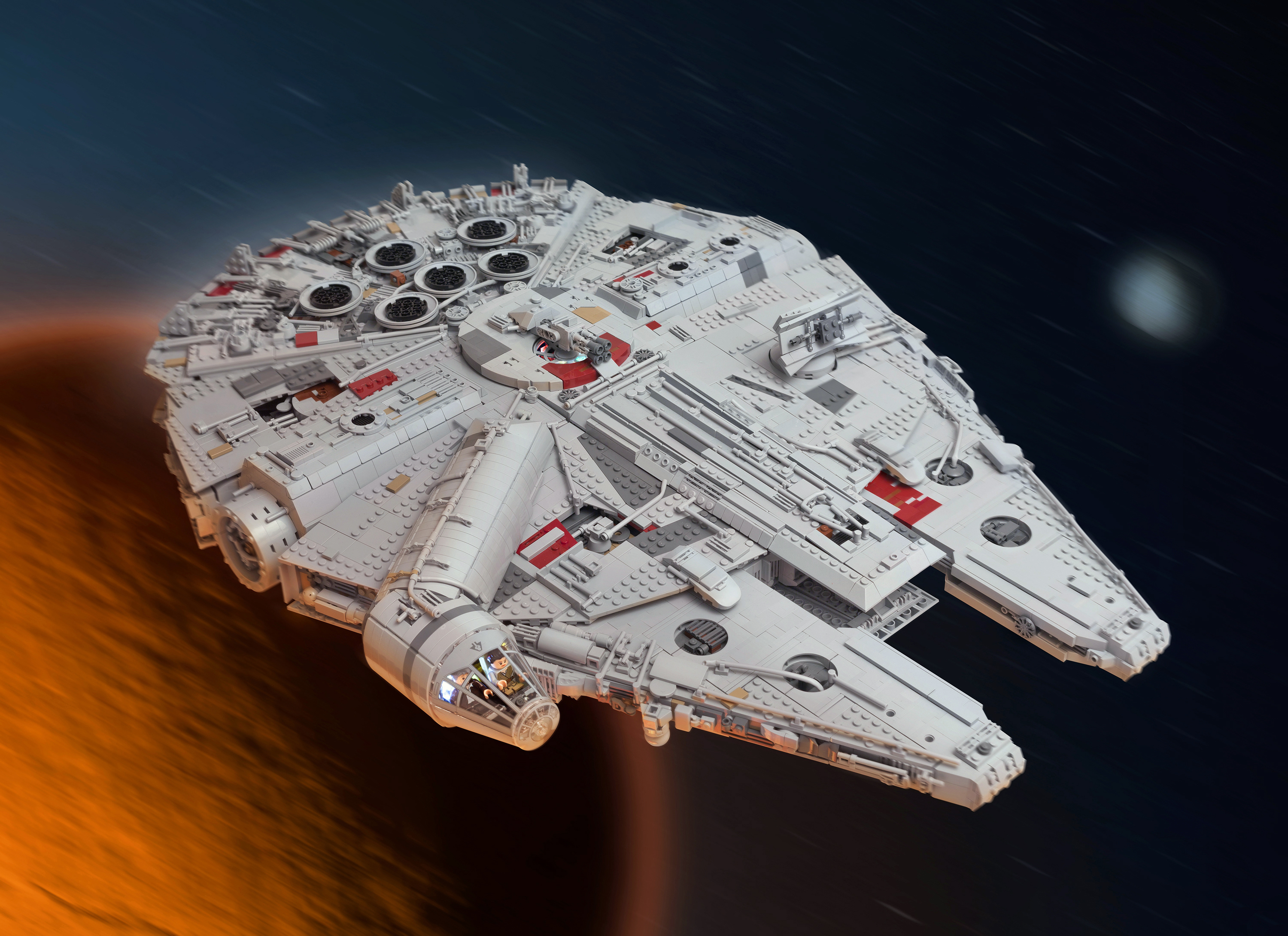 Star Wars fan creates 7500-piece Lego Millennium Falcon