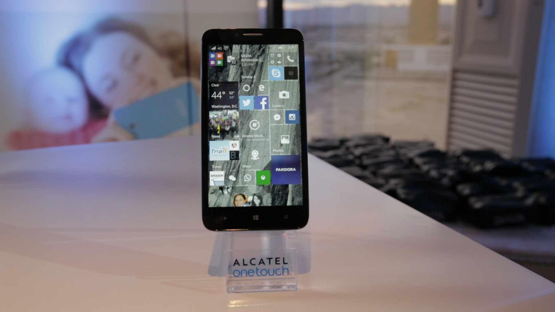 Video: Alcatel's first Windows 10 phone has a shot of color