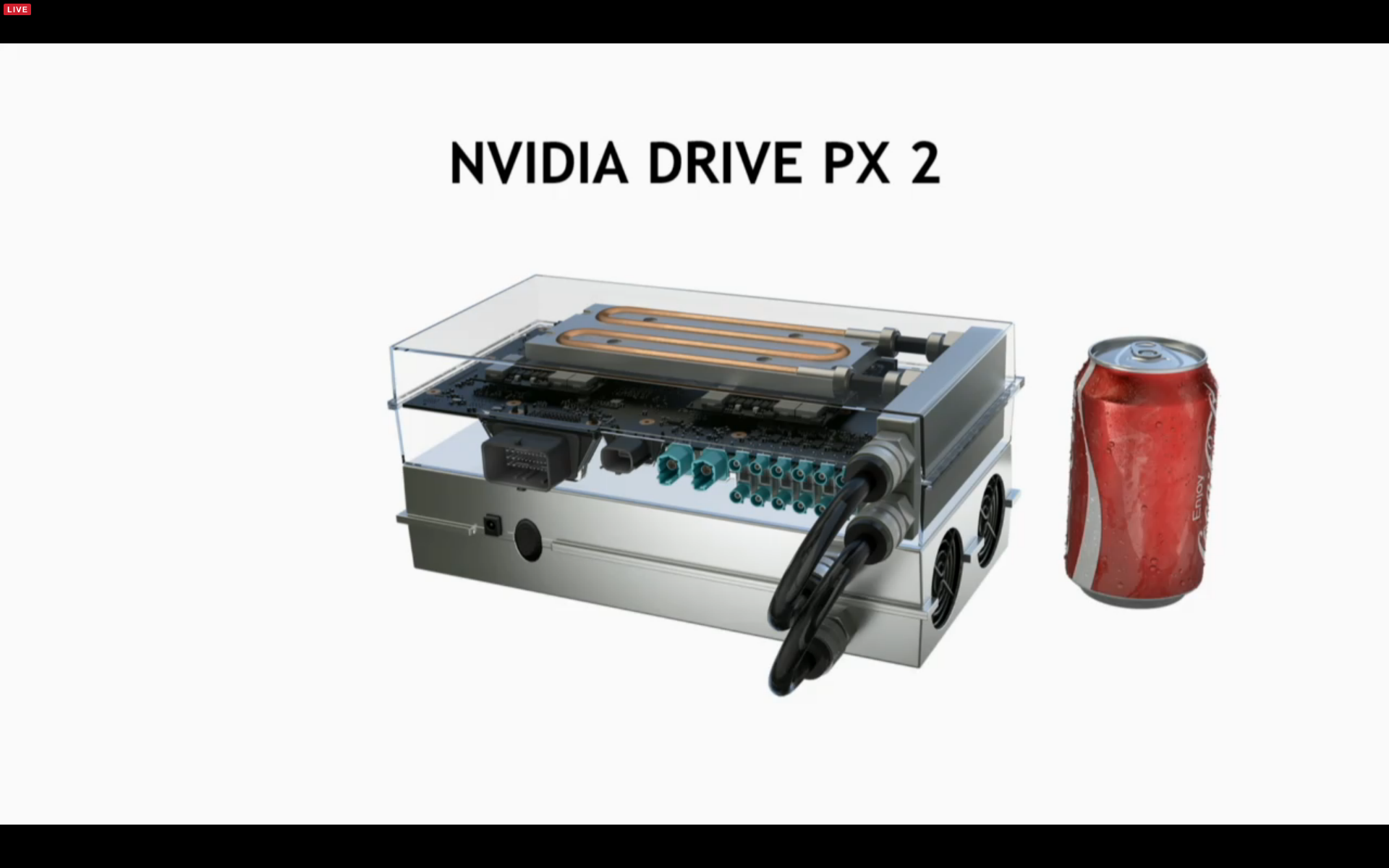 <p>Although incredibly powerful, the Drive PX 2 computer is about the size of a lunchbox, and designed to fit into production cars.</p>