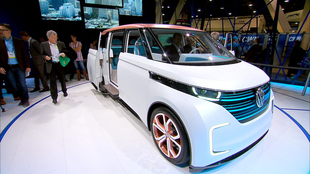 Video: Volkswagen's electric BUDD-e concept van shows off gesture control, connectivity