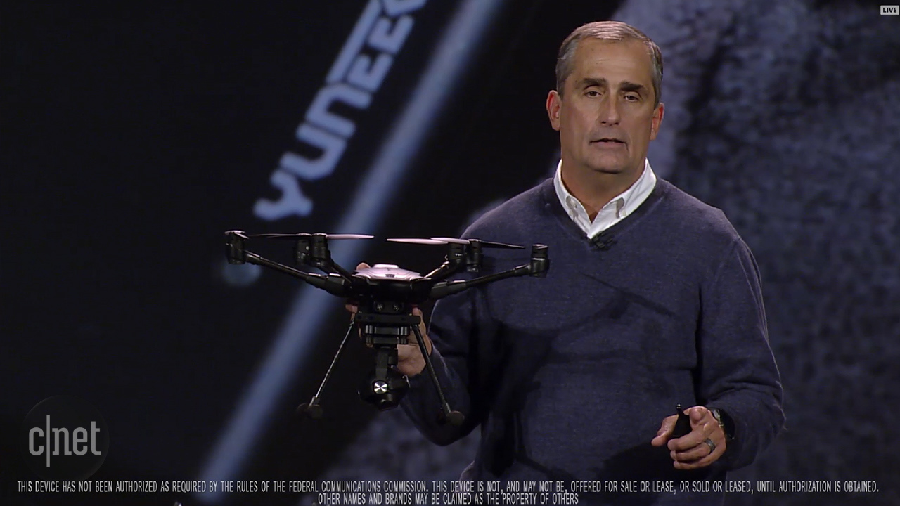Video: Intel shows intelligent drone with Real Sense tech
