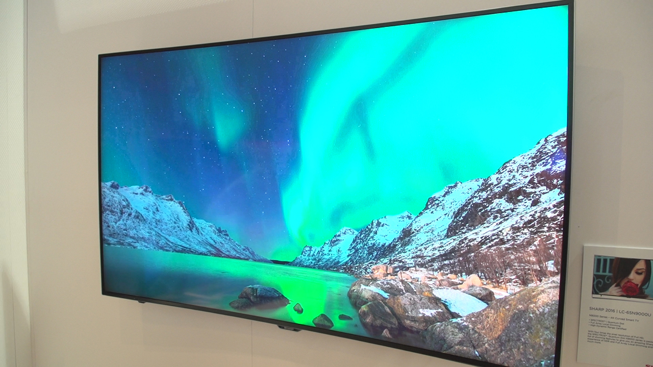 Video: Sharp TV adds dimming and dots