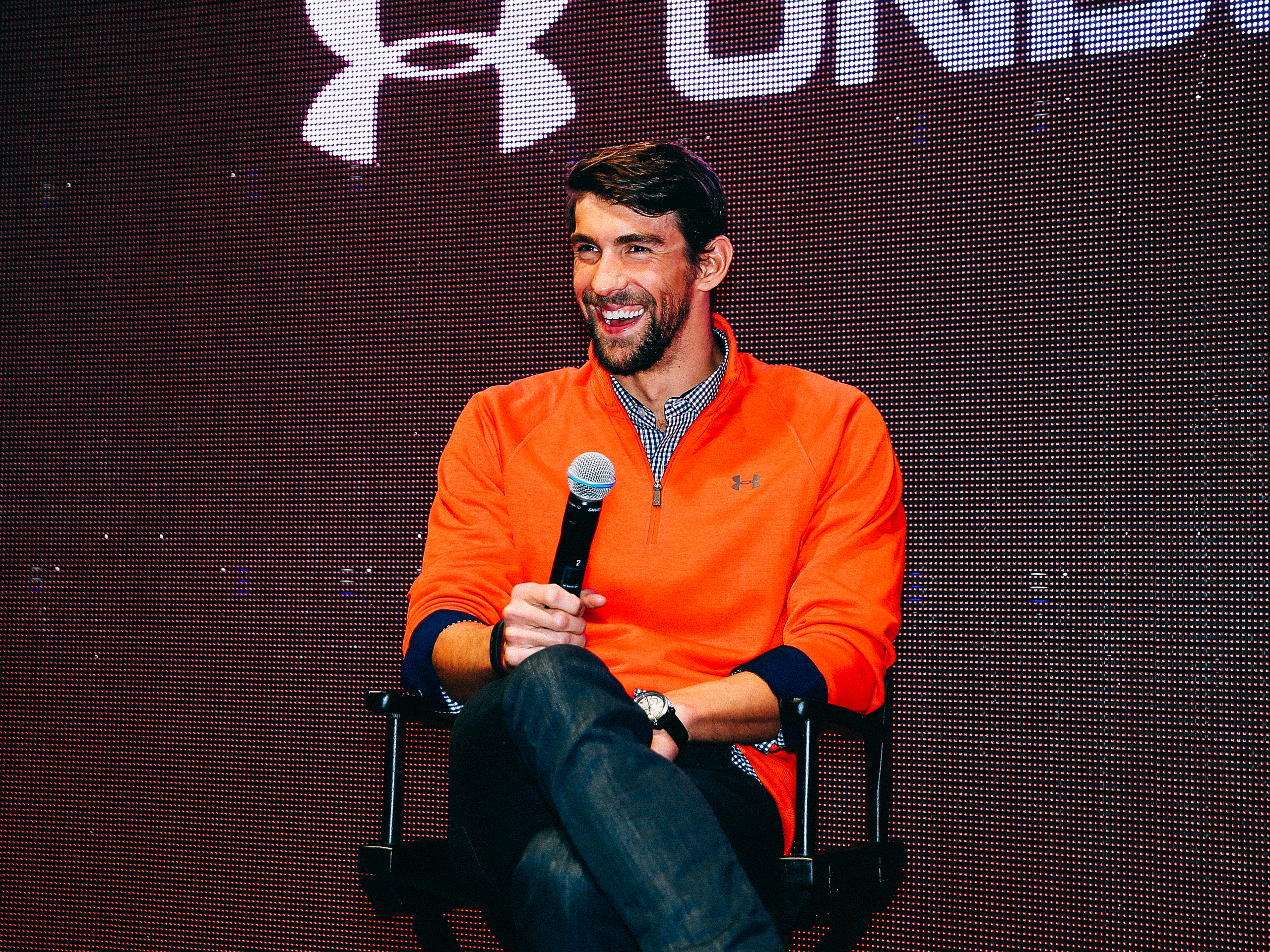 <p>Swimmer Michael Phelps, the most decorated Olympian of all time, dives in to help Under Armor make a splash.</p>