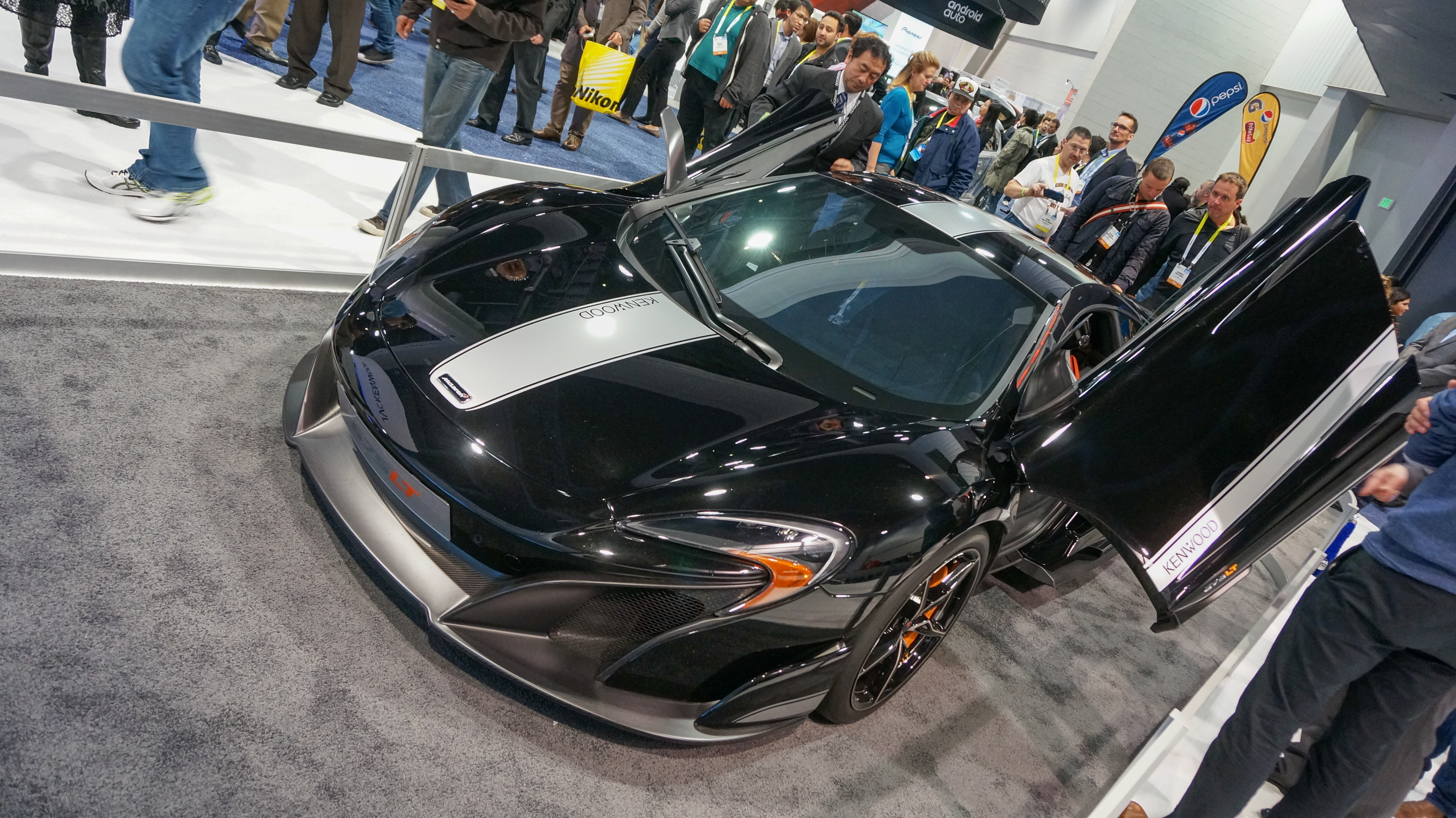 <p>JVC-Kenwood teamed up with McLaren to build this custom 675LT concept.</p>