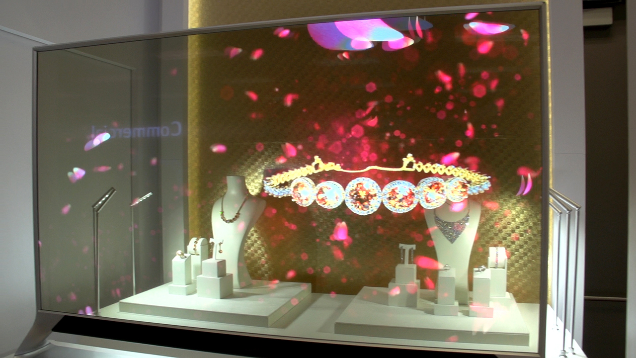 Video: See-through OLED TV a window to tomorrow