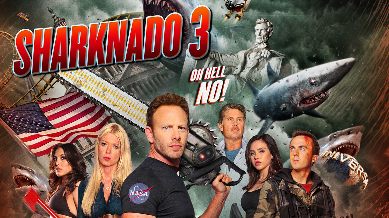 <p>Sharknado 3 does what it says on the can.</p>