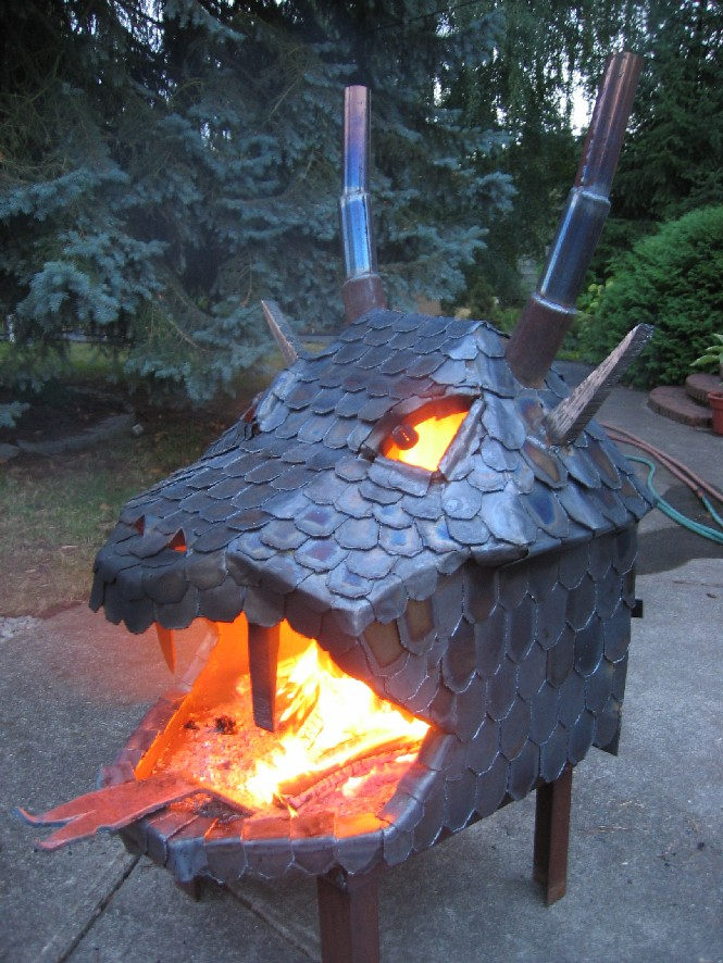 "<p>Dragons and fire go together like Jedis and light sabers, so it seems only natural to have a fire pit modeled after one.</p><p>Unfortunately this fire-breather -- and burner -- isn't for sale, it's just to be admired. It was created by a friend of Flickr user <a href=""https://www.flickr.com/photos/34977830@N00/163823720/"">Gunter Hausfrau</a> who posted it to his account for all dragon lovers to enjoy.</p>"