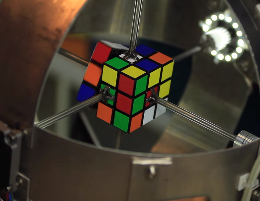 <p>Sub1 is way faster at unscrambling a Rubik's Cube than any human.</p>