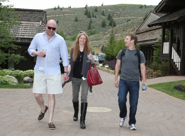 <p>Facebook board member Marc Andreessen with his wife Laura and CEO Mark Zuckerberg. Andreessen on Wednesday apologized for his comments regarding colonialism and India.</p>
