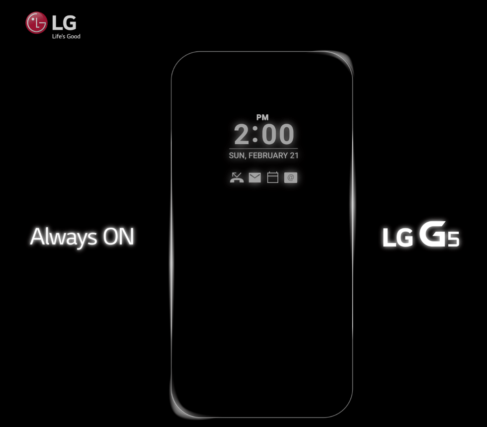 <p>LG is on the verge of announcing the G5, which we now know will have an always-on screen.</p>