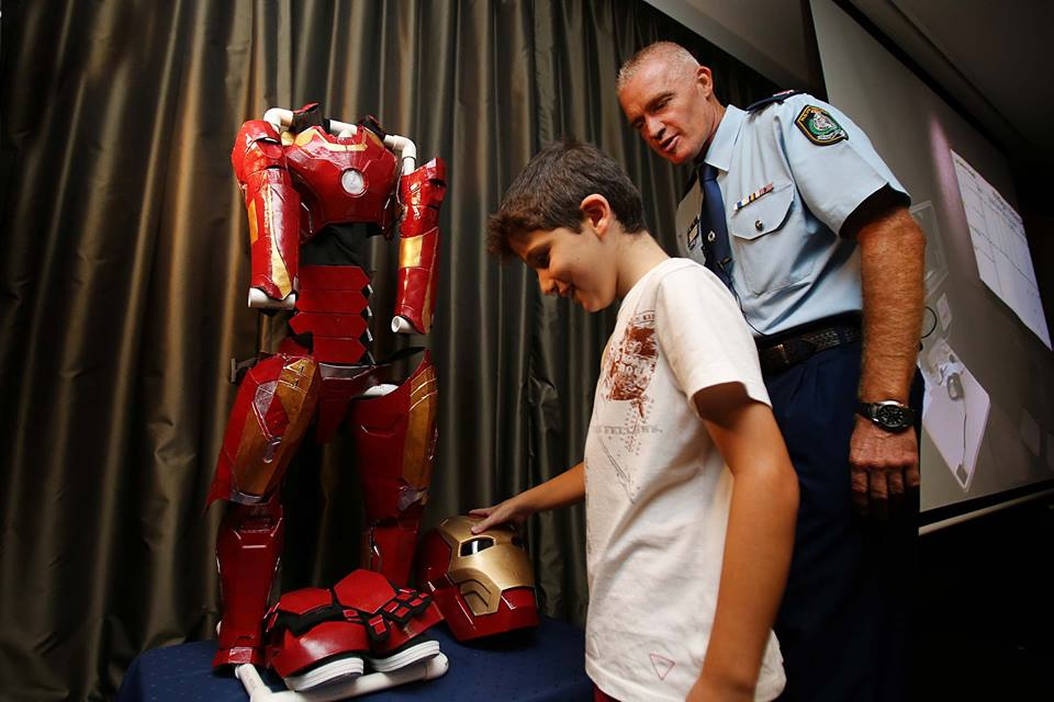 <p>Nine-year-old Sydney local Dominic gets ready to suit up as Iron Boy and take on Ultron's evil henchmen.</p>