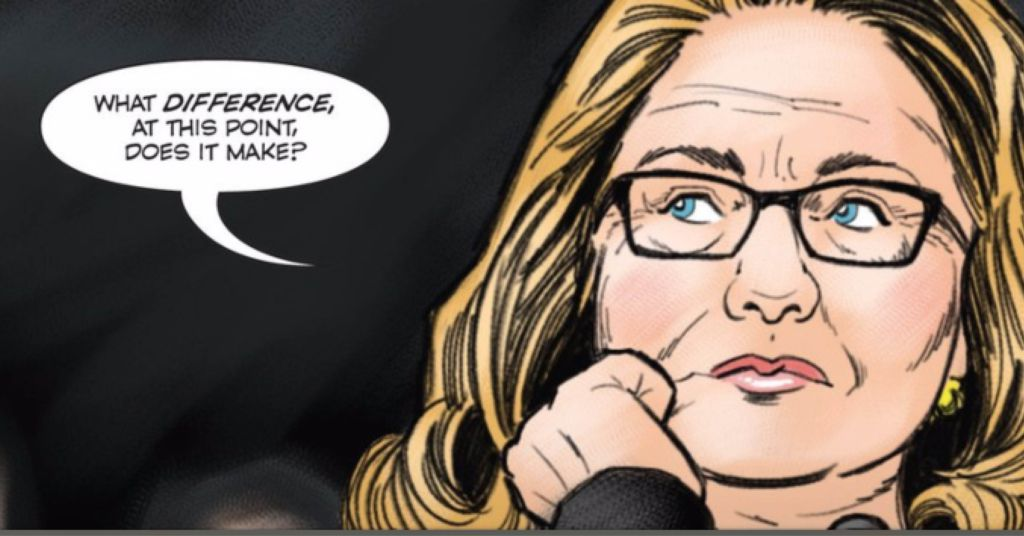 <p>Hillary Clinton's latest biography comic depicts her role in the Benghazi hearings.</p>