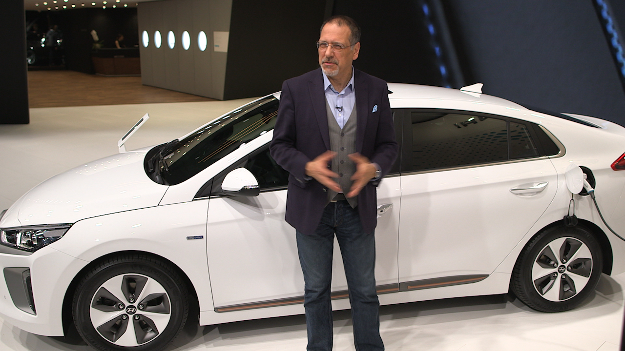 Video: On the road: Hyundai Ioniq is the first car to go green three ways