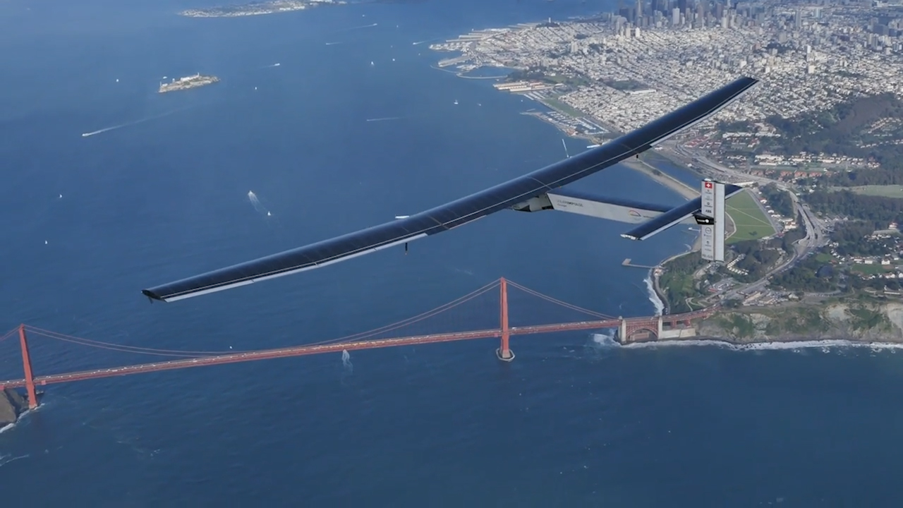 Video: Solar-powered plane completes Pacific leg of global journey (Crave Extra)