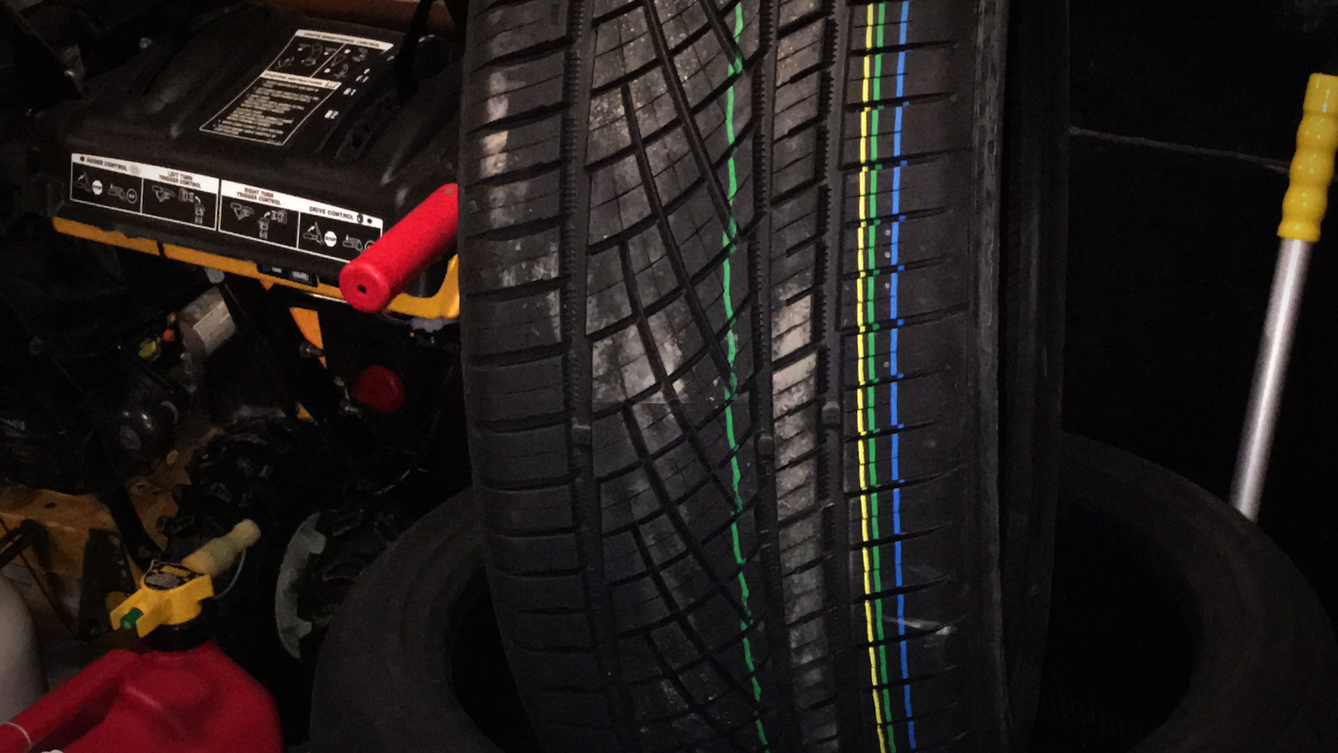 Video: Your emails: What do the color stripes mean on your tires?