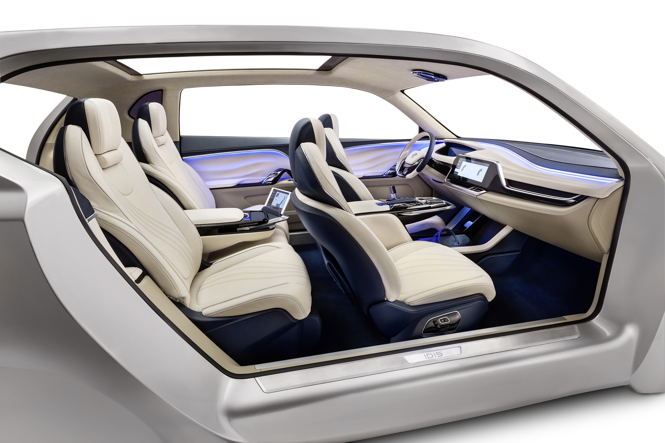 id15 concept car interior the future of not driving roadshow. Black Bedroom Furniture Sets. Home Design Ideas
