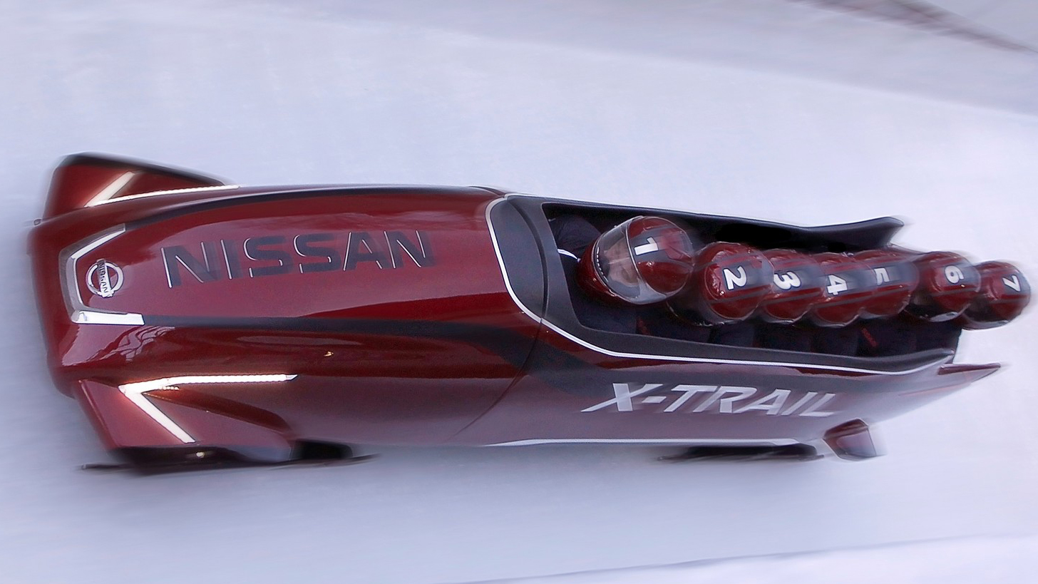 Video: The Nissan bobsled is a different kind of fast