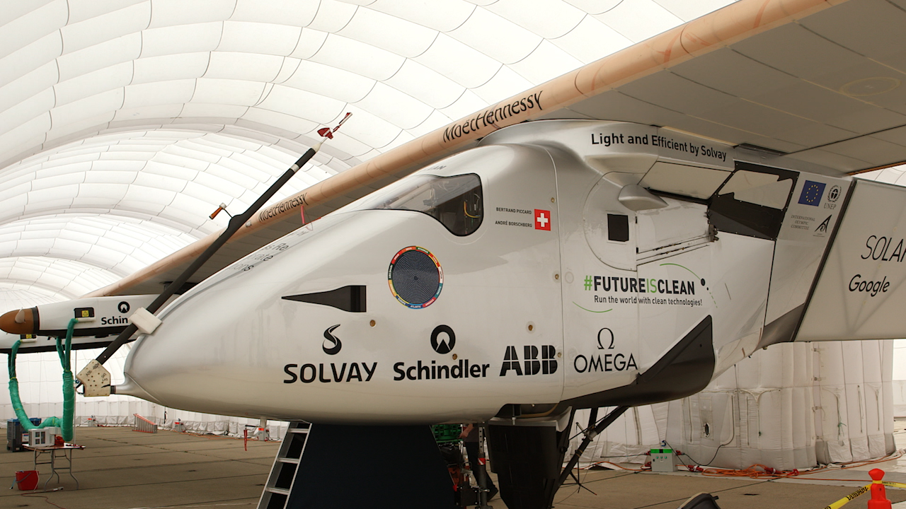 Video: Chatting with the pilot of the Solar Impulse 2 solar-powered airplane