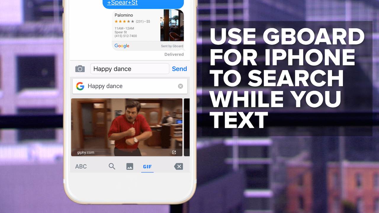 Video: Use Gboard for iPhone to search while you text