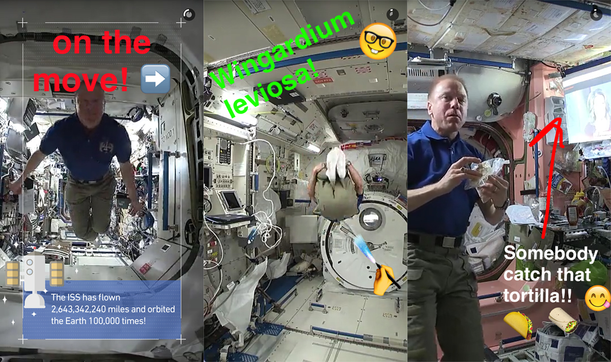 NASA sends Snapchat to the ISS for a day in space