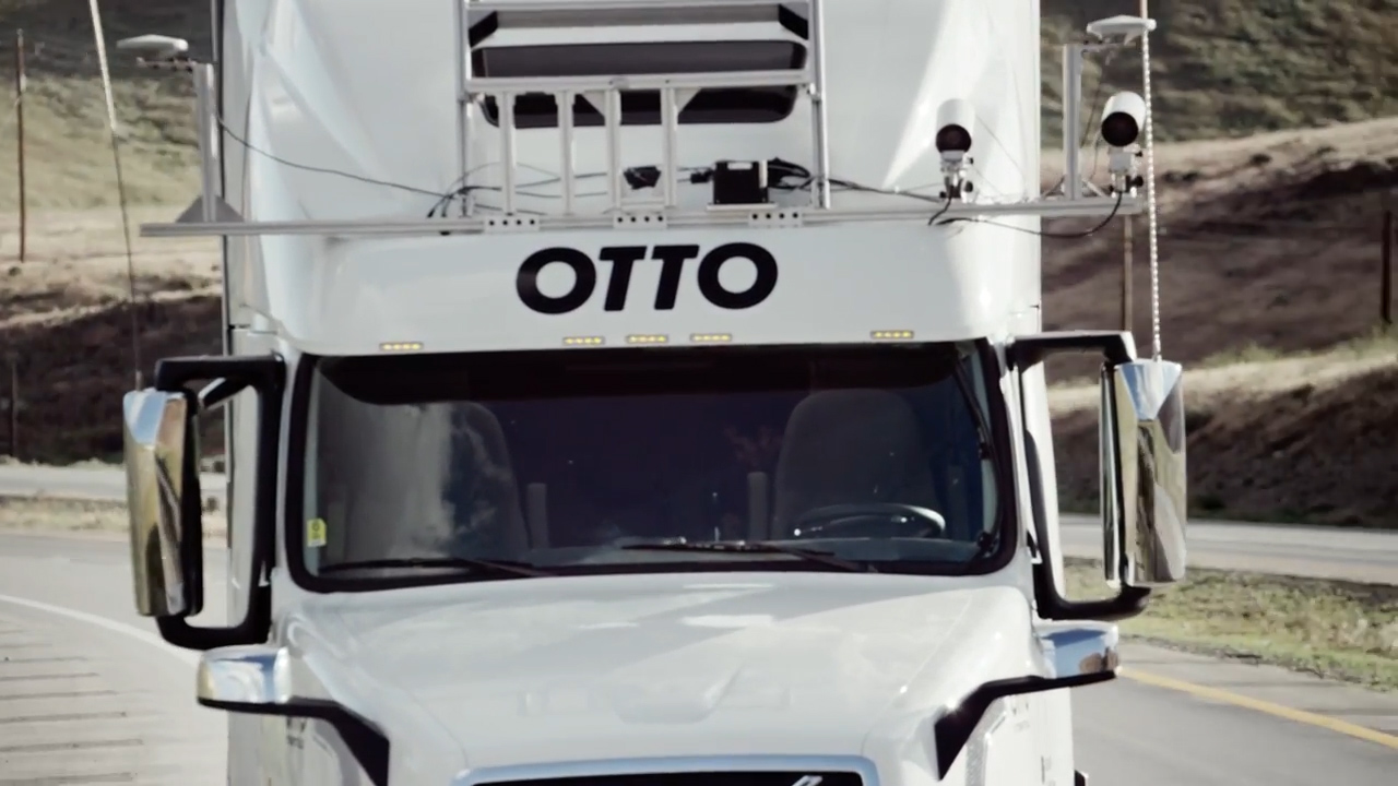 Semi trucks gain self-driving powers with Otto