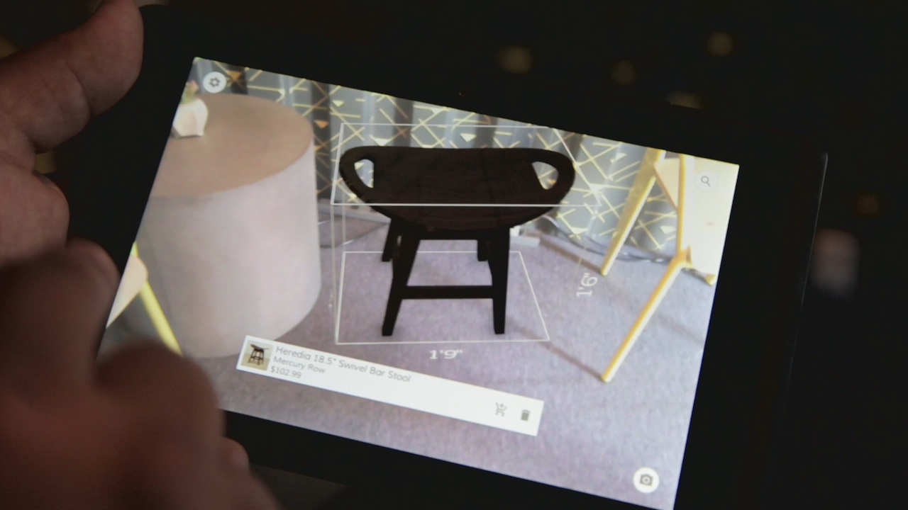 Video: Google's 3D-sensing Project Tango phones could help you buy furniture