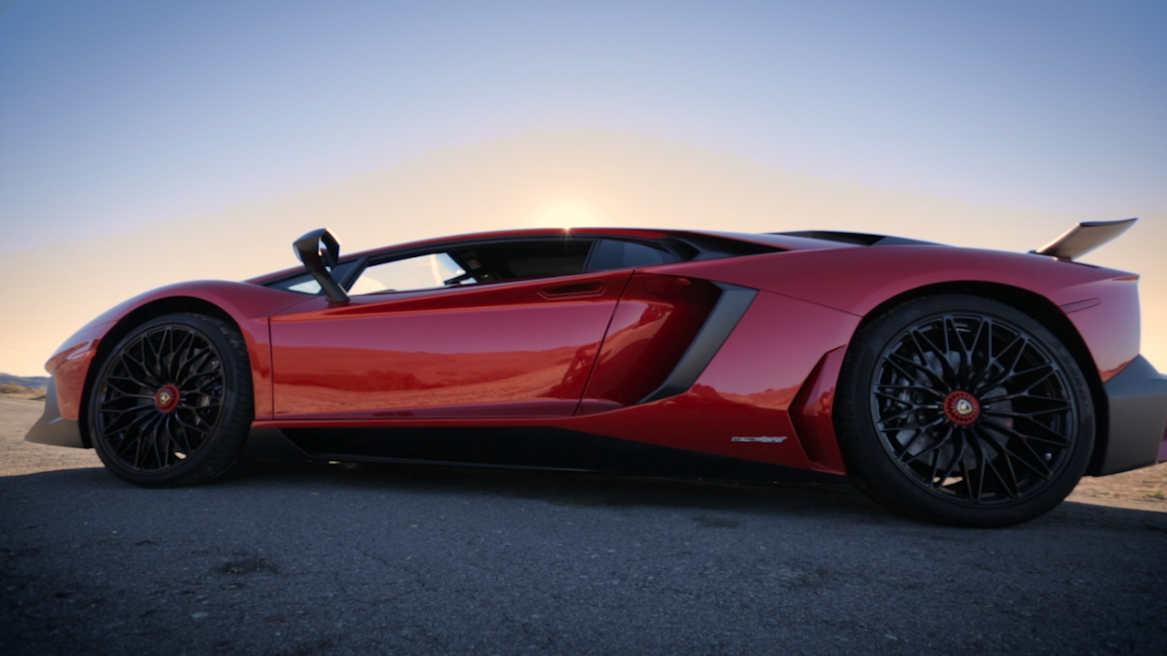 Video: On the road: Lamborghini Aventador SV