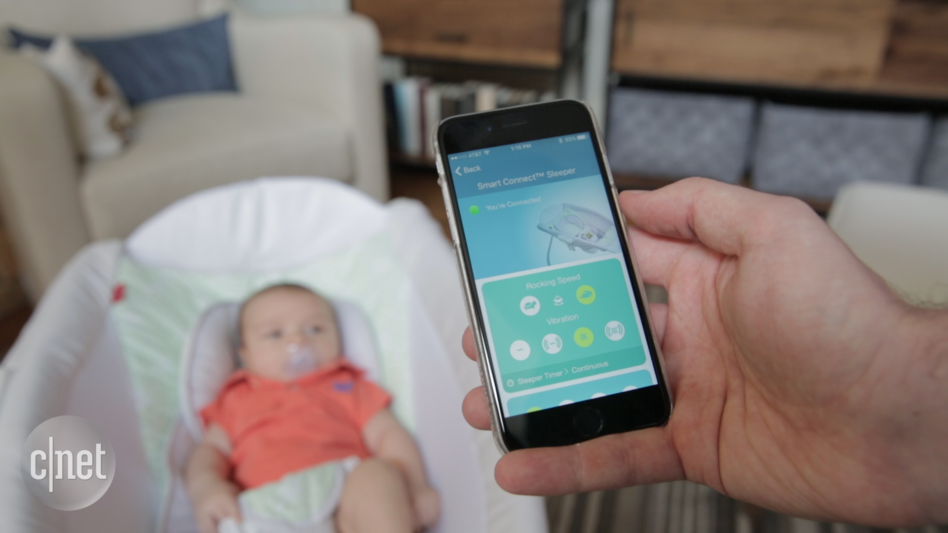 Video: This smart baby sleeper makes parenting seem easy