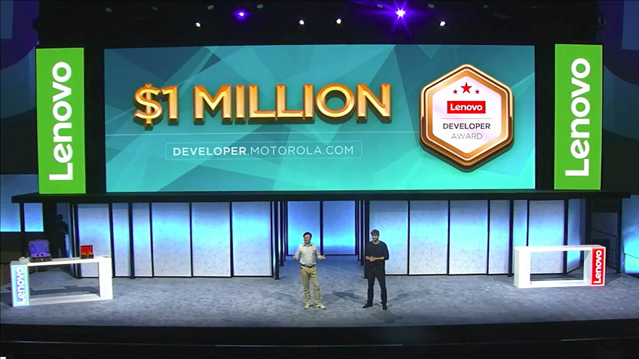 Video: Lenovo announces $1 million prize to Moto Mods developers