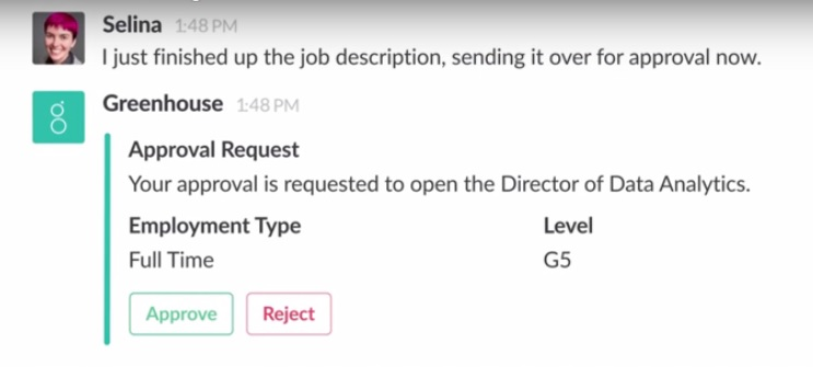 <p>Slack's new Message Buttons allow users to execute third-party apps -- without leaving the workplace chat app.</p>
