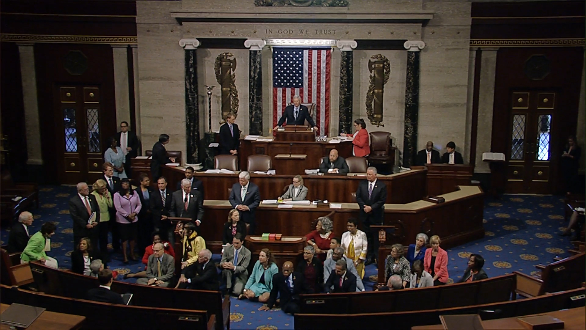 Video: Occupy Congress: Dems hold a sit-in to force gun law vote