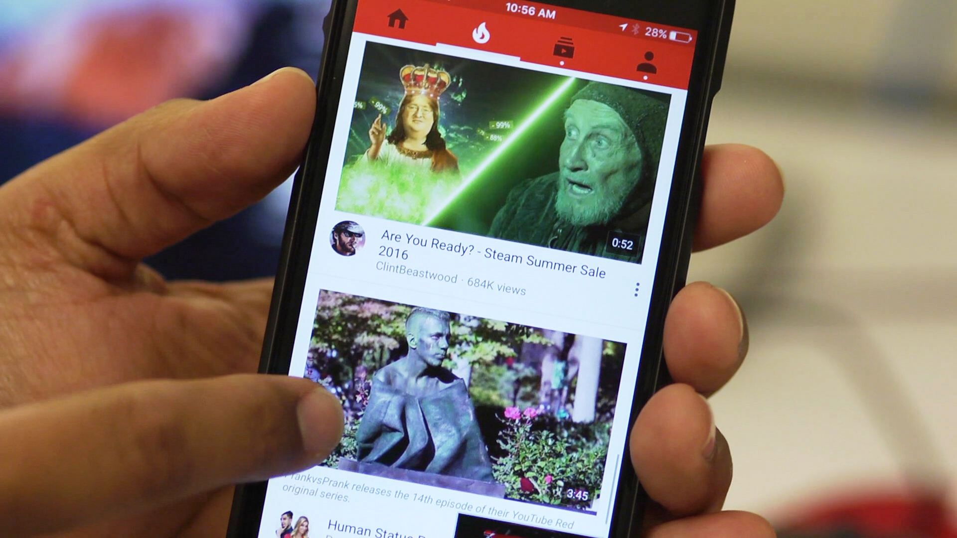 Video: YouTube brings live streaming to its mobile apps