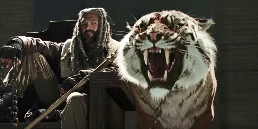 "<p>Season 7 of ""The Walking Dead"" looks grrrreat now that it includes the tiger named Shiva.</p>"