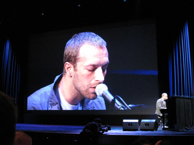 Chris Martin at Apple event