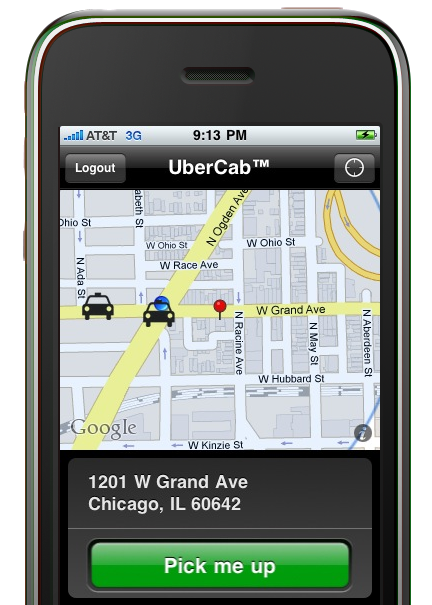 UberCab let's you hail a Town Car from your iPhone.