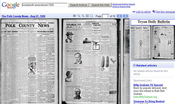 Google has scrapped a service to let people search older newspapers it scanned.