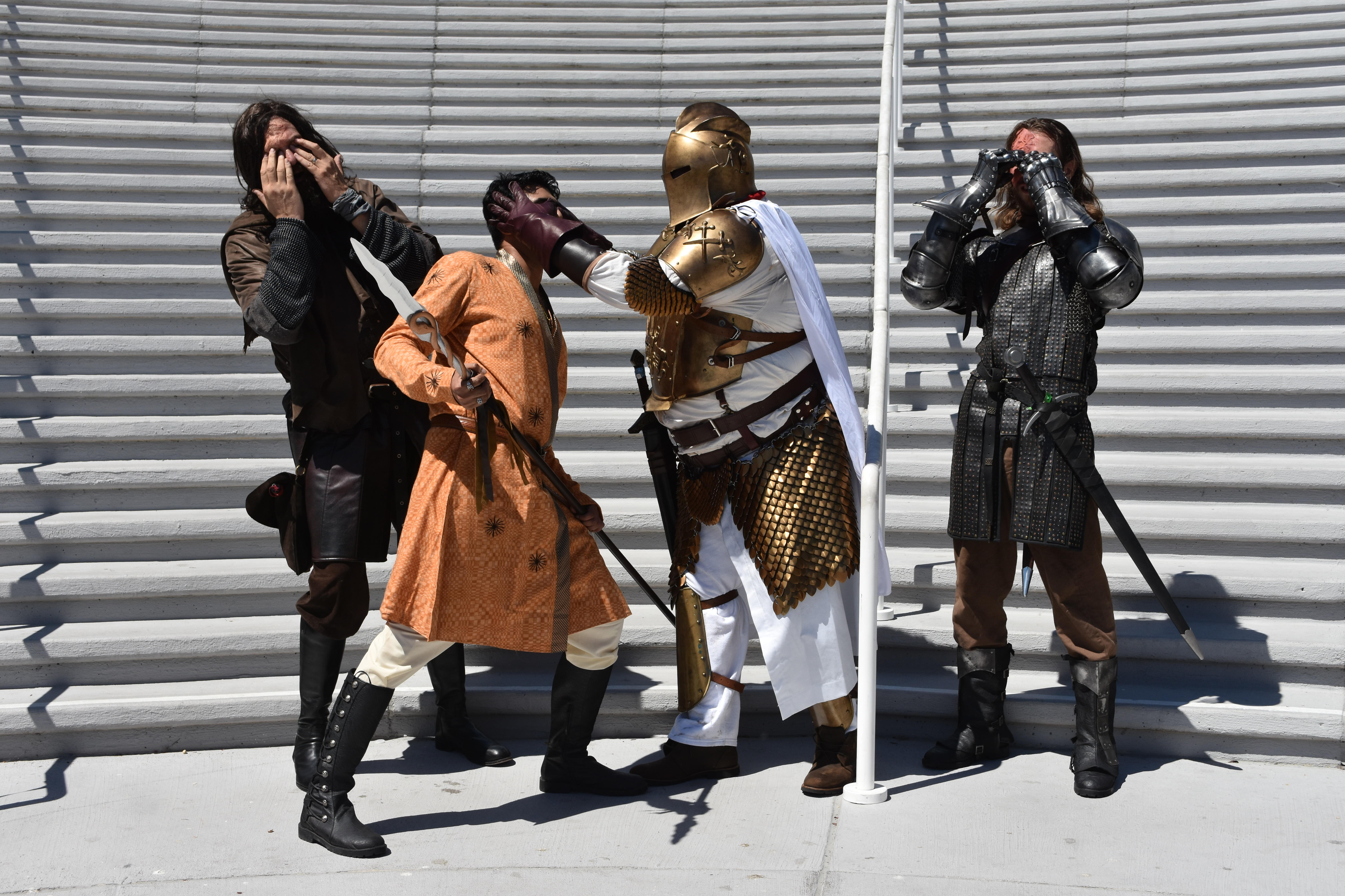 Cosplayers re-enact Game of Thrones at Comic-Con 2019.