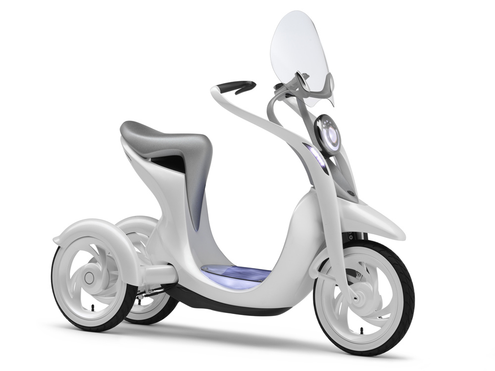 The Electric commuter EC-Miu concept designed by Toyota and Yamaha.