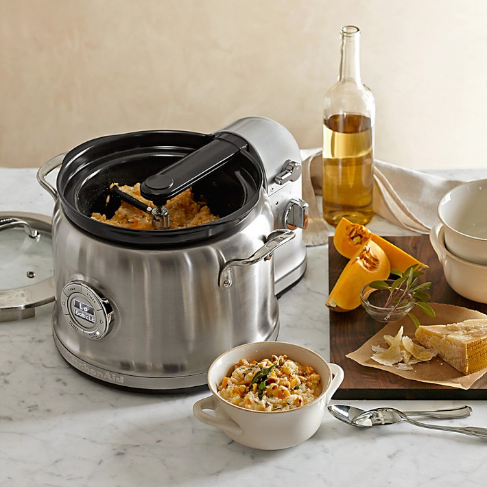 The KitchenAid Stainless-Steel Multicooker & Stir Tower does practically everything but go and get the ingredients.