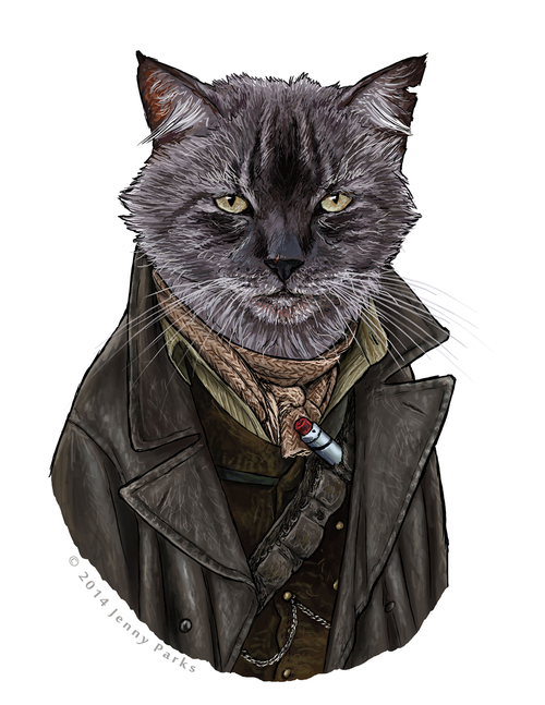 """John Hurt as the War Doctor looks like a much friendlier """"Doctor Who"""" Time Lord when he's covered in fur."""