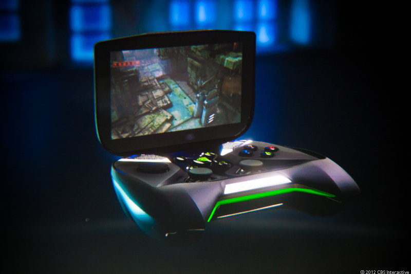 Nvidia shows off its own portable gaming device, called Shield.