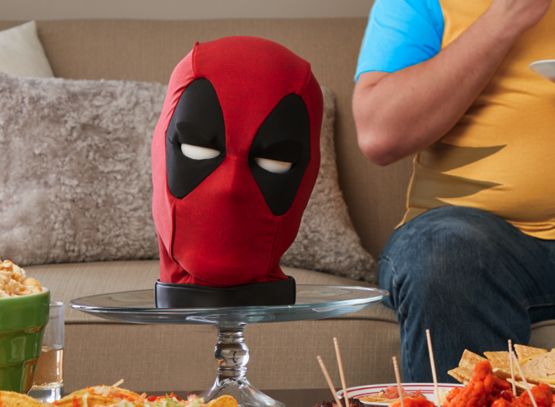 <p>Deadpool's interactive head will look pretty sweet on the shelf with your other Marvel Legends collectibles.</p>