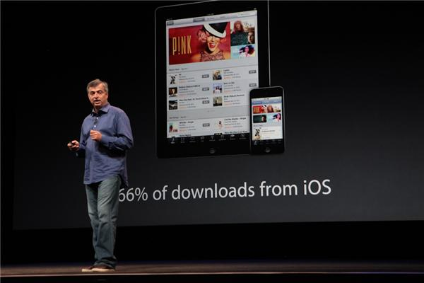 Eddy Cue, Apple's iCloud and music chief at Apple's iPhone 5 event earlier this year.
