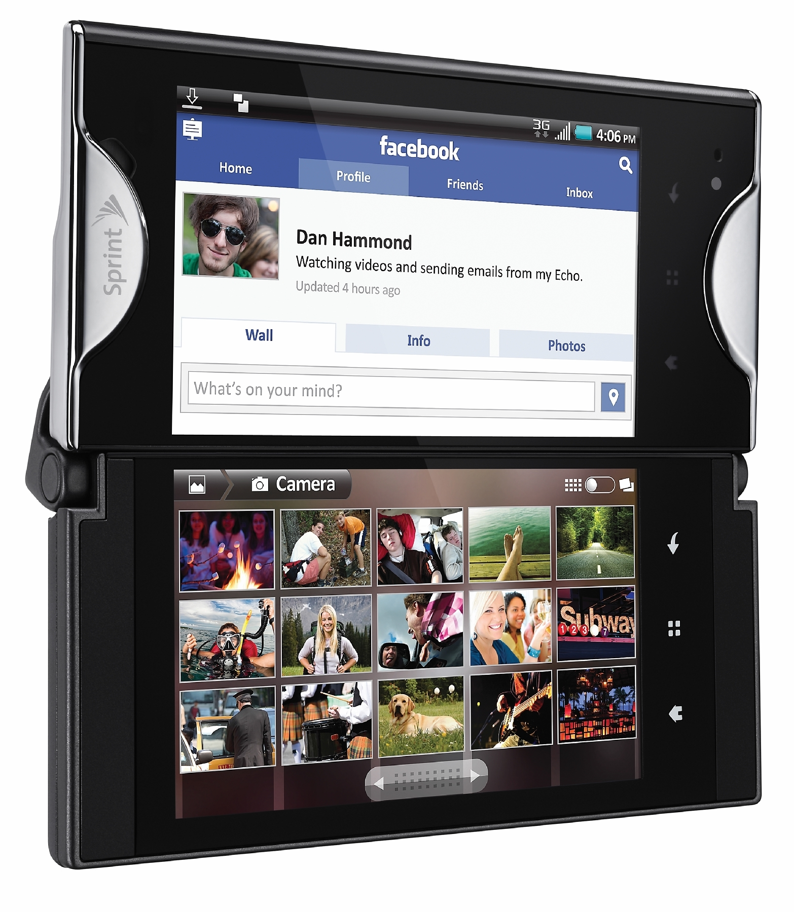 The Kyocera Echo, a foldable phone design that flopped.