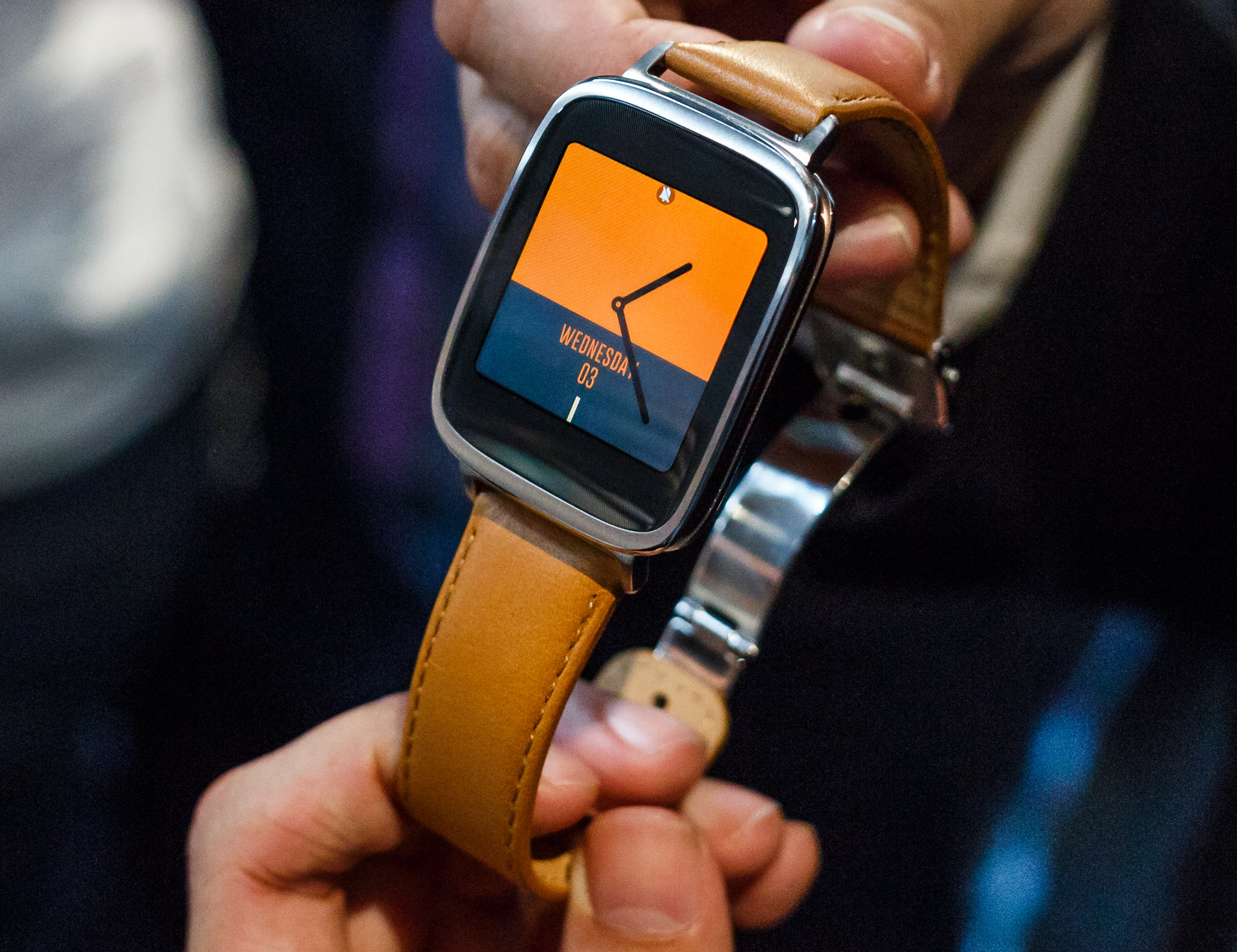 Asus debuted its ZenWatch, an Android Wear device, at the IFA electronics show in Berlin.