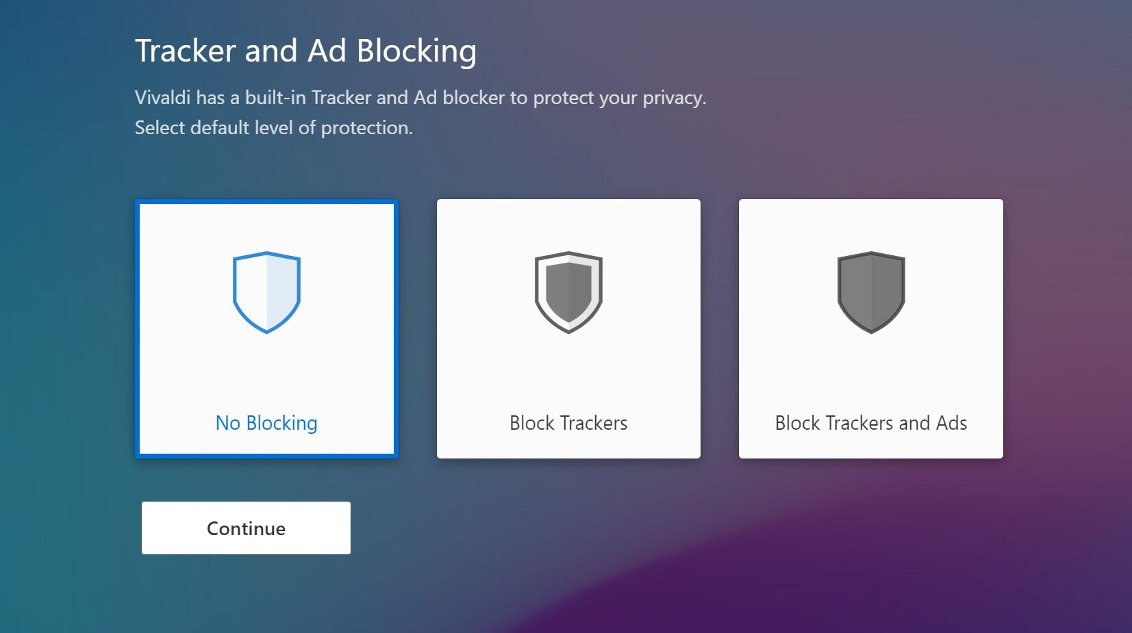 Vivaldi 3.0 brings the ability to block online ads and trackers.