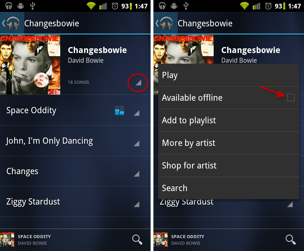 Offline music in Android